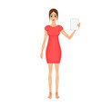 cute cartoon business woman in a vector image