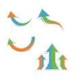 cute paper arrows with shadows vector image