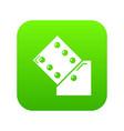 dice icon green vector image vector image