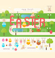 easter egg hunt on park map vector image vector image
