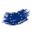 european union flag grunge brush background vector image