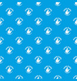 exotic fruits pattern seamless blue vector image