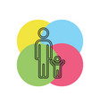 father and child family icon vector image vector image