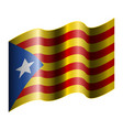 flag of catalonia vector image