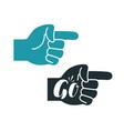 forefinger symbol or icon index finger go vector image