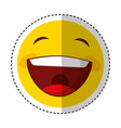 funny happy emoticon icon vector image vector image