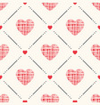 geometric seamless pattern with hearts and vector image vector image