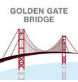 golden gate bridge san francisco california vector image
