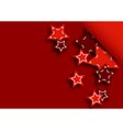 Greeting card with the stars vector image