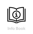 info or guide book icon editable outline vector image vector image
