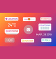 instagram stories polls social media icons and vector image vector image