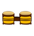 isolated bongo drum sketch musical instrument vector image