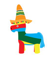 isolated pinata with a hat icon vector image vector image