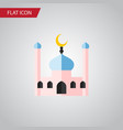 isolated traditional flat icon muslim vector image vector image