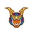 japanese samurai warrior head vector image vector image