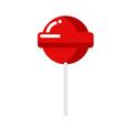 Lollipop Strawberry Caramel Sweets food vector image