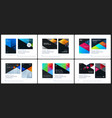 material design template creative colourful vector image