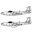 mcdonnell fh-1 phantom vector image vector image