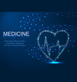 medicine heart with a whirlwind abstract vector image