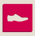 men shoes sign grayscale version of vector image