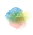 mixed color abstract watercolor background vector image vector image
