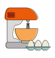 mixer electric with eggs vector image