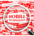 MOBILE TECHNOLOGY vector image vector image