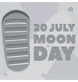 Moon day poster vector image vector image