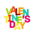 multicolor valentines day banner bright text vector image vector image
