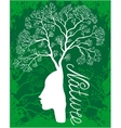 Nature woman tree vector image vector image