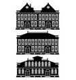 old townhouses silhouettes vector image