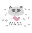 panda t-shirt design with cute bear vector image vector image