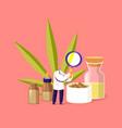 people growing medical cannabis scientist vector image