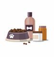 pet care accessories pet shop icon vector image vector image