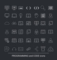 programming icon set programming icon set vector image vector image