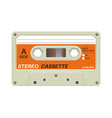 retro cassette audio equipment for analog music vector image