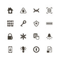 safety - flat icons vector image vector image