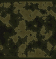 seamless digital woodland pixel camo texture vector image vector image