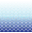 seamless fishing net pattern on white and blue vector image vector image