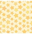 Seamless flat stars with outline patten yellow vector image vector image