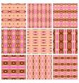 set nine tribal patterns vector image