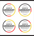 set of four german icons english title vector image