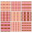 Set of nine tribal patterns vector image