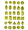 Set of realistic yellow topaz jewels
