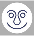 smiling face icon or avatar vector image