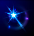Star bokeh bright vector image