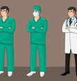 Three Doctors vector image