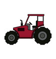tractor sideview icon image vector image