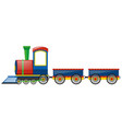train and two wagon carts vector image
