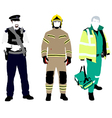 UK Emergency Services vector image vector image